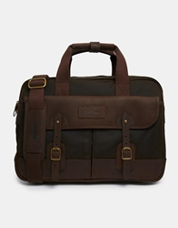 Barbour Mizzen Briefcase Green