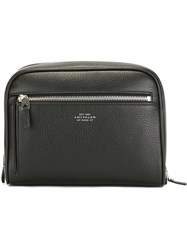 Smythson Zip Pocket Wash Bag Black