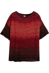 M Missoni Crochet Knit Top Red