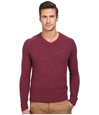 Original Penguin P55 100 Lambswool V Neck Sweater Amaranth Men's Sweater Purple