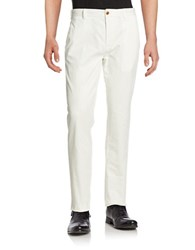 Brooks Brothers Stretch Cotton Chinos White