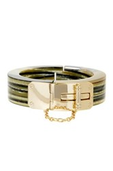 Louise Et Cie Jewelry Faux Horn Chain Bangle Metallic
