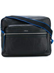 Furla Logo Plaque Shoulder Bag Black