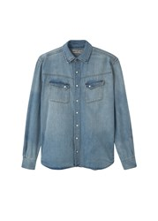 Mango Men's Slim Fit Light Denim Shirt Blue