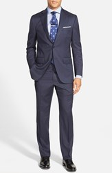 Men's Big And Tall Peter Millar 'Flynn' Classic Fit Wool Suit Navy