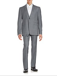 Burberry Two Piece Plaid Suit Mid Grey