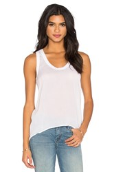 James Perse High Low Soft Woven Tank White