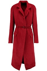 Donna Karan Alpaca And Silk Blend Coat Red