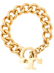 Tory Burch Chunky Chain Bracelet Metallic