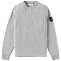 Stone Island Cashmere Pocket Crew Knit Grey