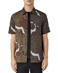 Allsaints Zapata Slim Fit Button Down Shirt Brown