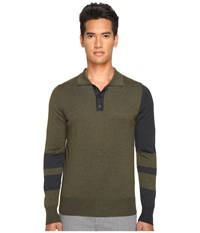 Vivienne Westwood Block Classic Knit Polo Green Grey