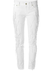 Dondup Embroidered Frayed Jeans