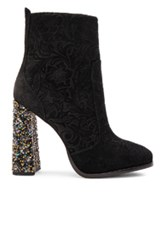 Sophia Webster Kendra Booties In Black Floral Metallics Black Floral Metallics