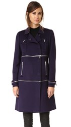 Diane Von Furstenberg 1 2 3 Coat Royal Navy