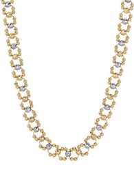 Lord And Taylor 14K Yellow Gold Faceted Round Bead Link Necklace