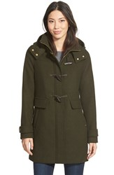 Women's Ellen Tracy Toggle Wool Blend Twill Duffle Coat