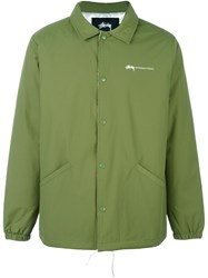 Stussy Back Print Coach Jacket Green