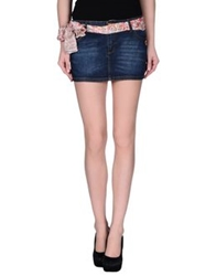 Maison Espin Denim Skirts Blue