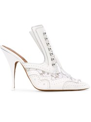Givenchy Stylised Brogue Mules White