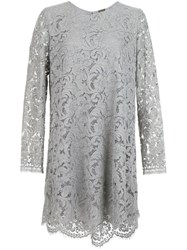 Adam By Adam Lippes Floral Lace Shift Dress Grey