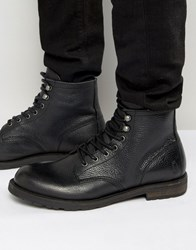 Shoe The Bear Walker Warm Leather Lace Up Boots Black