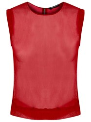 Reinaldo Lourenco Sheer Blouse Red