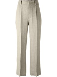 Alberta Ferretti Pleated Palazzo Pants Nude And Neutrals
