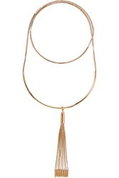 Eddie Borgo Neo Tasseled Gold Plated Necklace
