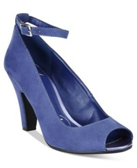 American Rag Willa Peep Toe Pumps Only At Macy's Women's Shoes Summer Blue