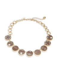 Kate Spade Out Of Her Shell Pave Stone Necklace Brown