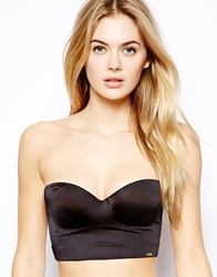 Miracle Low Back Strapless Bra Black