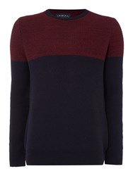 Criminal Jayden Yoke Panel Jumper Purple