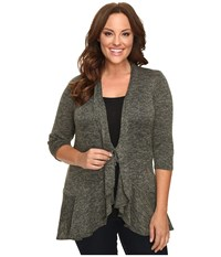 Kiyonna Love Story Cardigan Olive Women's Sweater
