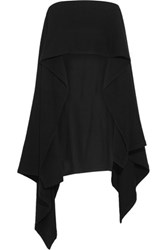 Christophe Lemaire Brushed Wool Poncho Black