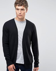 Selected Homme Open Drape Cardigan Dark Grey