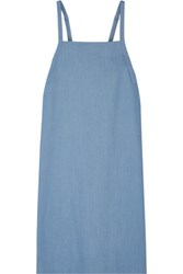 Adam By Adam Lippes Stretch Denim Midi Dress Light Blue