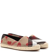 Burberry Hodgeson Check Espadrilles Beige