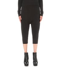 Drkshdw Cropped Cotton Jersey Trousers Black