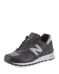 New Balance Men's Age Of Exploration Bespoke Leather Sneaker Black Silver