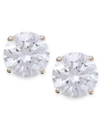 Arabella 14K Rose Gold Earrings Swarovski Zirconia Studs 5Mm Clear