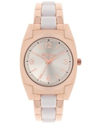 Styleandco. Style And Co. Women's Rose Gold Tone And White Bracelet Watch 36Mm Sy055rgw Only At Macy's