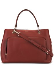 Dkny Classic Tote Red