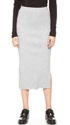 Cheap Monday Rive Knit Skirt Grey Melange