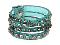 Leather Rock B340 F185 Jade Bracelet Green