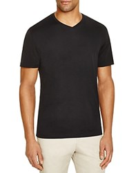 The Men's Store At Bloomingdale's V Neck Cotton Tee Black