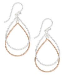 Giani Bernini Two Tone Teardrop Drop Earrings In Sterling Silver And 18K Gold Plated Sterling Silver Only At Macy's Two Tone