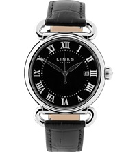 Links Of London Driver Stainless Steel Watch Black