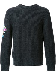Christian Dada Crew Neck Jumper Black