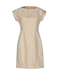 Max And Co. Dresses Short Dresses Women Beige